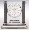 Promotional Silver Upright Clock