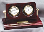 Classic Rosewood Clock,thermometer, Pen Award