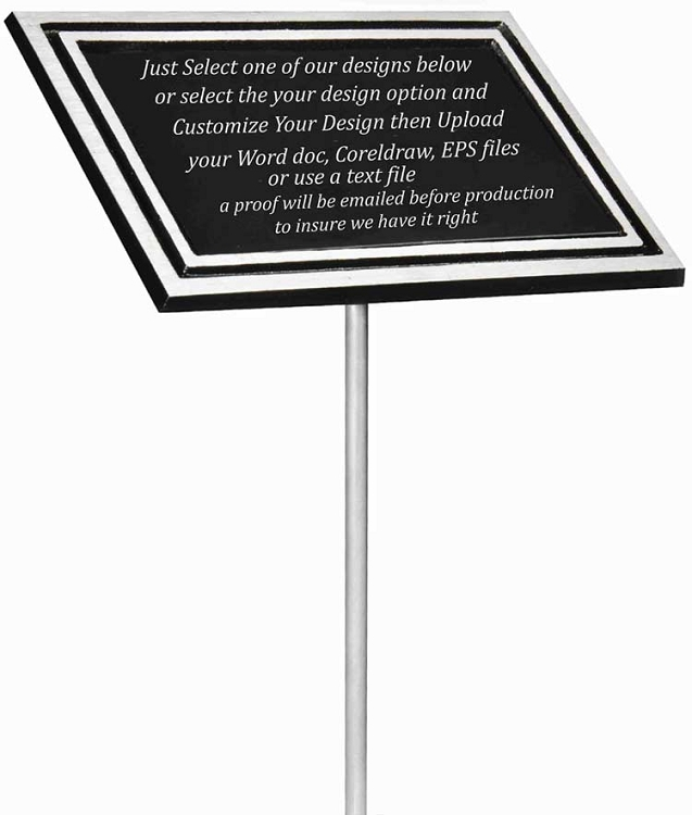 outdoor aluminum memorial plaque. Black Bedroom Furniture Sets. Home Design Ideas
