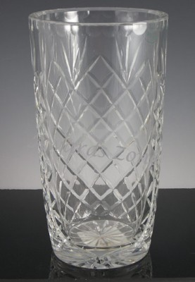 Hand Cut Polish Crystal Vase