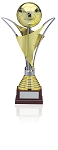 Modern Gold and silver Plated Soccer Trophy