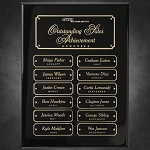 Black Piano Finish Perpetual Plaque 9