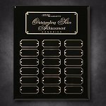 Black Piano Finish Perpetual Plaque 10-1/2