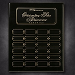 Black Piano Finish Perpetual Plaque 12