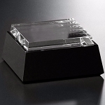 Black and Optical Crystal Base - Square