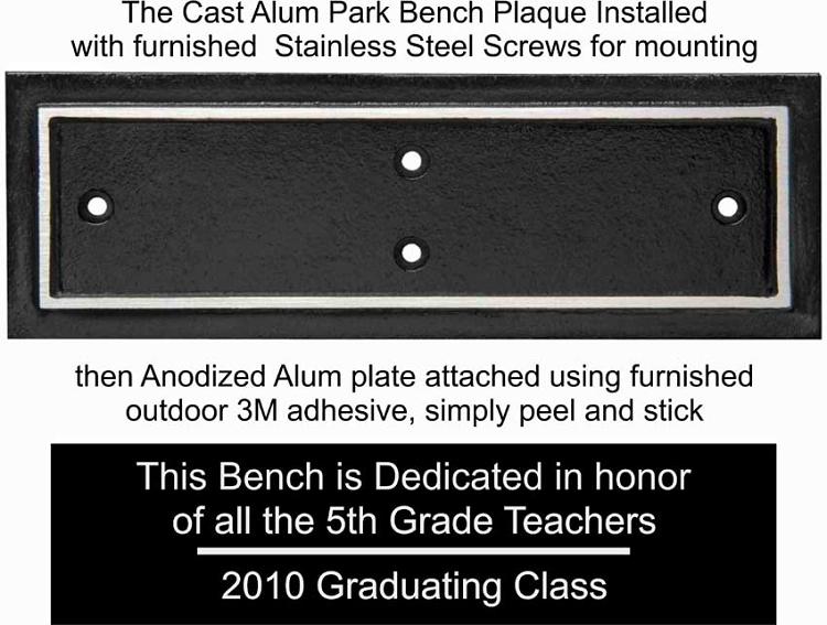 Astounding Outdoor Aluminum Park Bench Plaque Short Links Chair Design For Home Short Linksinfo