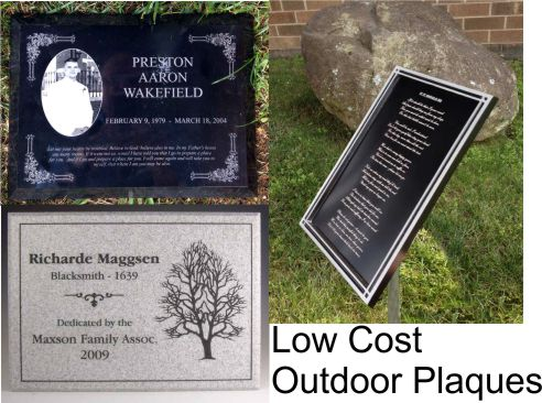 Low Cost Park Outdoor Dedication Plaques