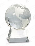 MEDIUM CRYSTAL GLOBE W/CLEAR BASE