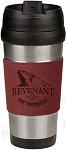 16 oz. Rose Leatherette Stainless Steel Travel Mug