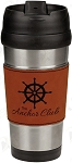 16 oz. Rawhide Leatherette Stainless Steel Travel Mug