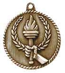 2 inch  Torch High Relief Medal