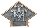 6X8.5 CHEERLEADER DIAMOND PLATE-Large