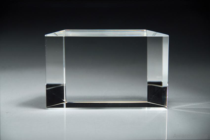 Bevel Back Crystal Award- Small 3\