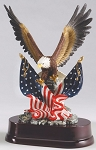 Eagle with American Flag Trophy