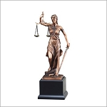 Lady Justice with Scales Trophy