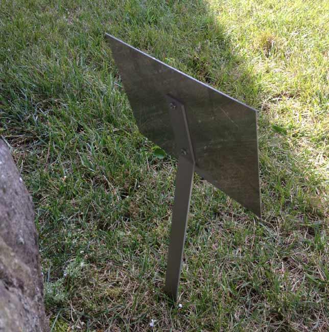 6x8 stainless steel dedicationmemorial lawn or garden sign - Garden Plaques