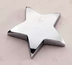 Chrome Finished Star Paper Weight with Felt Bottom