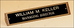 American Walnut Name Plate 8-1/2