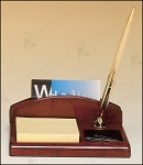 Rosewood Piano Finish Desk Organizer 4-3/4
