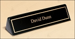 Black Stained Piano Finish Nameplate. 9-1/2