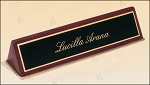 Rosewood Piano Finish Nameplate 9-1/2