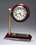 Rail Station Rosewood Piano Finish Photo Desk Clock 7