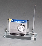 Clock, Pen and Business Card Holder