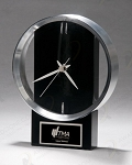 Black and Silver Modern Design Clock 5-5/8