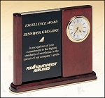 Versatile Clock Rosewood Piano Finish Desk Clock 6-3/4