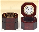 Rosewood Piano Finish Desktop Clock 3-3/8