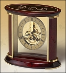 Skeleton Clock with Brass and Rosewood Piano Finish 7