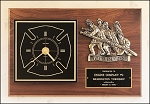 Firefighter Retirement Award Clock