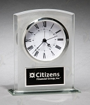 Glass Clock with Frosted Accent 5