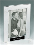 Polished Silver Aluminum Picture Frame 9-1/2