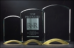 Arch Series Glass Award with Gold Metal Base 5