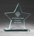 Jade Glass Star Award 5-3/4