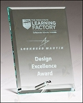 Clear Glass Award with Silver Plated Post 6