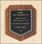 American Walnut Shield Plaque with a Black Brass Plate. 7