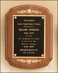 American Walnut Plaque with Decorative Accents 9