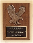 American Walnut Plaque with Eagle Casting 6