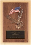 American Walnut Plaque with Eagle Casting 8