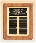 American Walnut Frame Perpetual Plaque 12