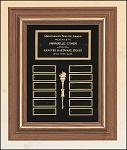 American Walnut Frame Perpetual Plaque 15