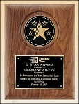 American Walnut Plaque with 5 Star Medallion 9