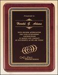 Rosewood Piano Finish Plaque with Brass Plate 10-1/2