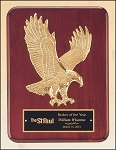 Rosewood Piano Finish Plaque with Gold Eagle Casting 9