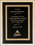 Black Piano Finish Plaque with Brass Plate 9