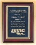 Rosewood Piano Finish Plaque with Marble Design Brass Plate 9