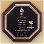 Octagonal Rosewood Piano Finish Plaque 10