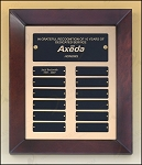 Cherry Finish Wood Frame Perpetual Plaque 12